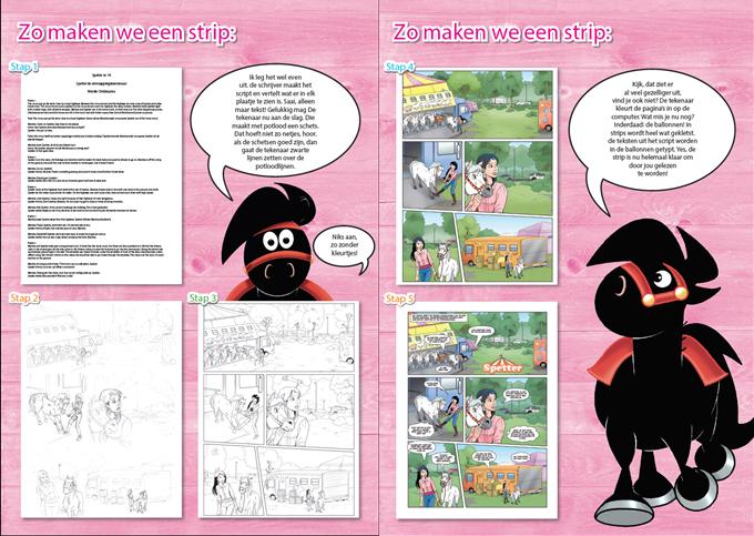 In het klein: van tekst naar schets naar stripverhaal!